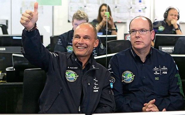 Solar Impulse takes off for six-day, six-night Pacific flight