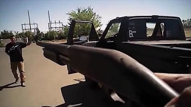 Shooting of unarmed white man shown in police body camera video