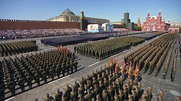 Russia displays military might with Victory Day parade on Red Square