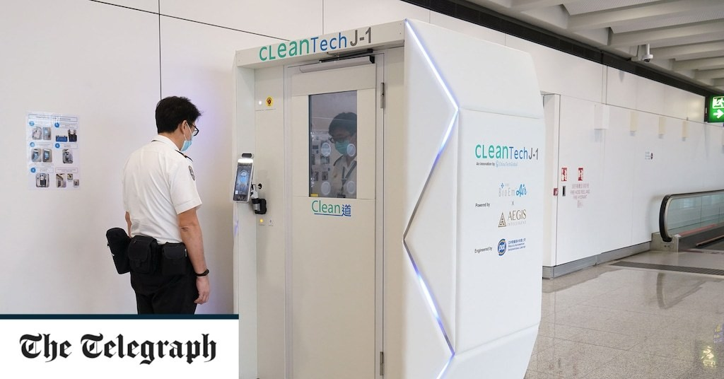 Disinfecting pods and robot cleaners help Hong Kong Airport prepare for return of passengers