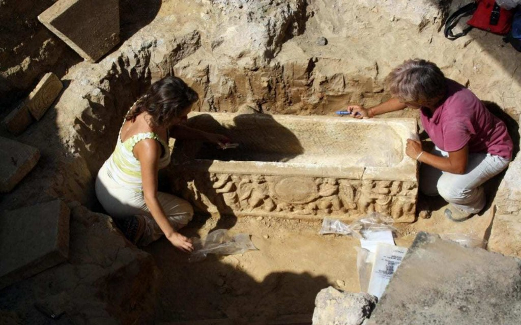 Ancient Roman sarcophagi discovered by chance next to Rome's football stadium