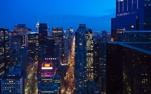 Fine dining in New York