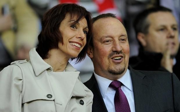 "Rafael Benitez has made a career out of ""tidying up Jose Mourinho's messes"" claims Mrs Rafael Benitez"