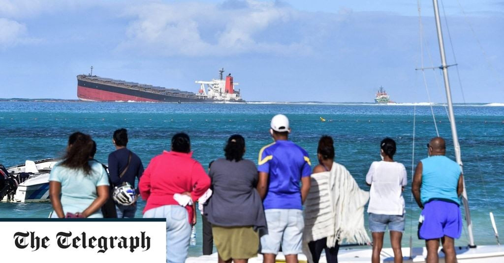 Mauritius facing catastrophe as oil starts leaking from a shipwreck near pristine coral reefs