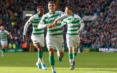 Mohamed Elyounoussi leads the way as Celtic smash six past Ross County