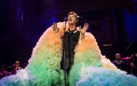 Rufus Wainwright review: now they know how many capes it takes to thrill the Albert Hall