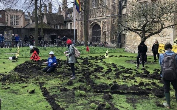 Police make arrest following Extinction Rebellion Trinity College protest