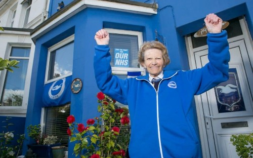 Brighton's two tribes of fans revel in journey to the Premier League