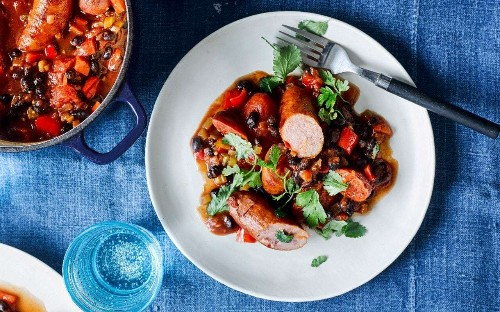 One-pot sausage and bean stew