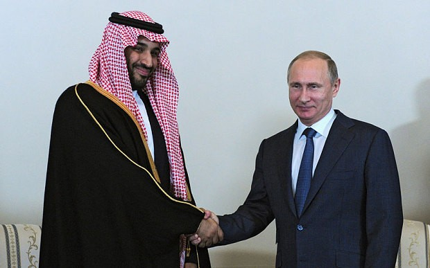 Hopes of Saudi-Russian entente sends oil price rocketing