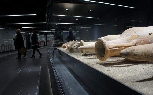 Rome unveils 'museum' metro station packed with hundreds of ancient artefacts found during construction