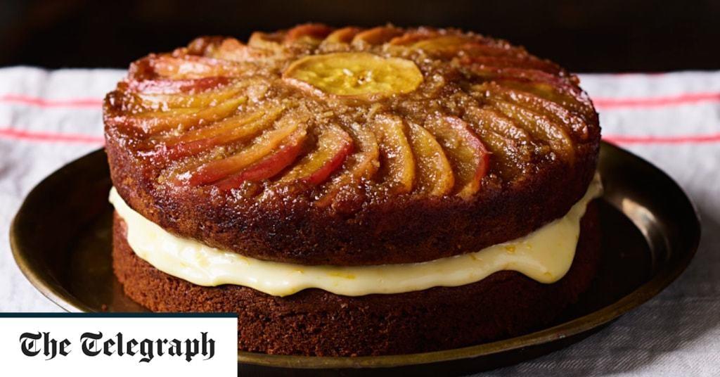 Toffee-apple layer cake recipe