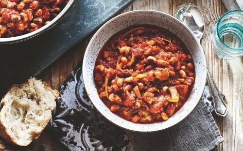 Smoky black-eyed bean and tomato stew recipe
