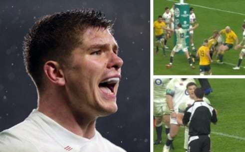 'It's clear as day mate!' How Owen Farrell convinced the officials to disallow a pivotal Australia try