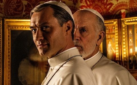 The New Pope, review: it's Jude Law vs John Malkovich in this deeply weird papal drama