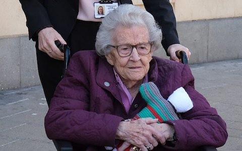 Britain's oldest court witness gives evidence, as it emerges murder suspects had obtained copy of her will to 'see how much she was worth'