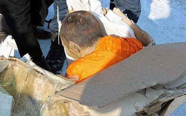 Mongolian scientists study 200-year-old mummified monk who is 'still alive'