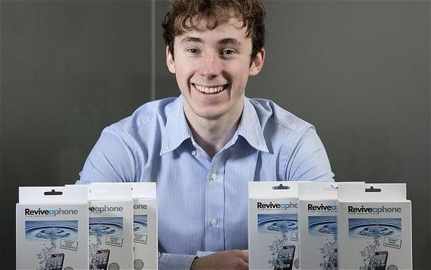 Entrepreneur finds remedy for water-damaged phones