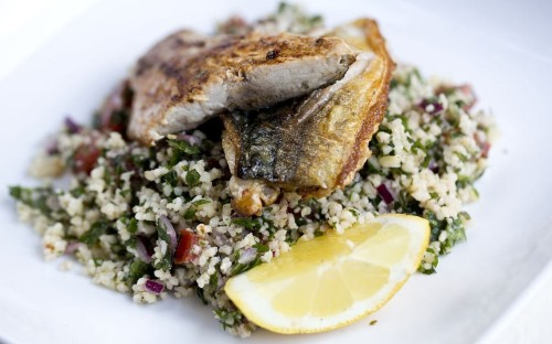 Speedy weeknight suppers: grilled mackerel with tabbouleh