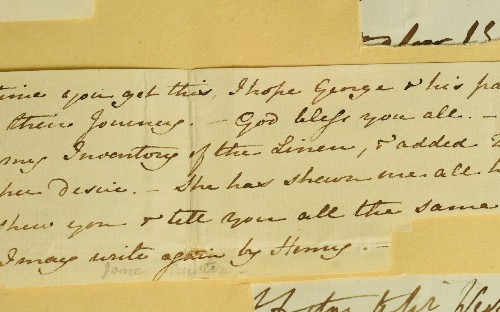 Missing six lines from Jane Austen letter discovered after 200 years, and are revealed to be about laundry
