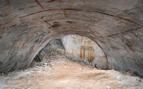 Archaeologists find secret chamber decorated with centaurs and a sphinx inside Nero's palace in Rome