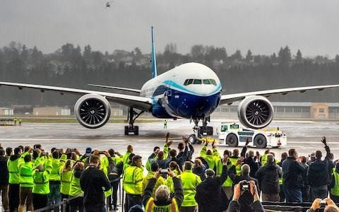 Boeing 777X, the world's largest twin-engine jet, completes first flight