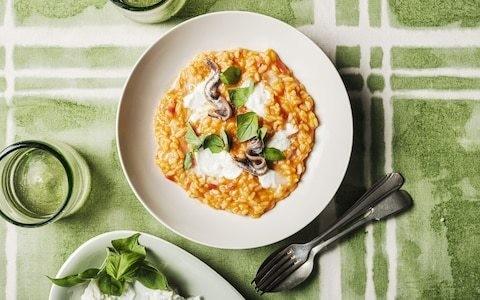 Tomato risotto with mozzarella recipe