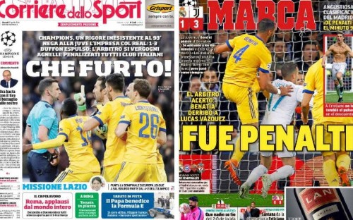 Michael Oliver penalty award for Real Madrid sparks Juventus fury - how the media reacted