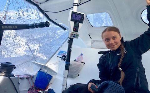 Teenage climate activist Greta Thunberg completes transatlantic crossing on zero-emissions yacht