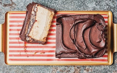 Milk chocolate biscuit bar with miso caramel recipe