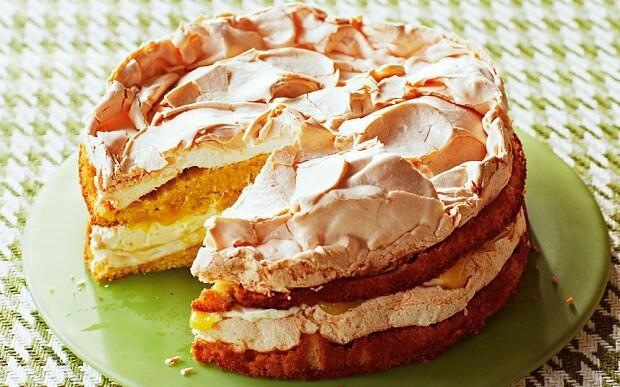 The New Baker: Lime Double Meringue cake