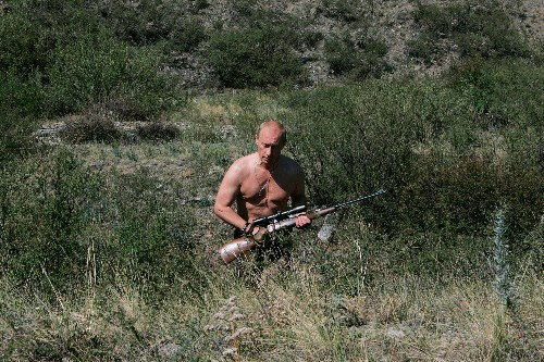 Vladimir Putin: 35 hilarious photographs of Russia's greatest adventurer