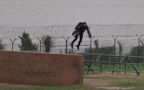 Real-life 'Iron Man' flies around elite Marine assault course with jet suit