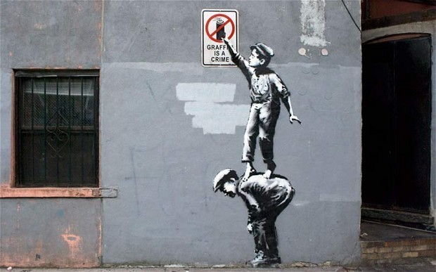 Banksy's New York works suffer vandalism just hours after completion