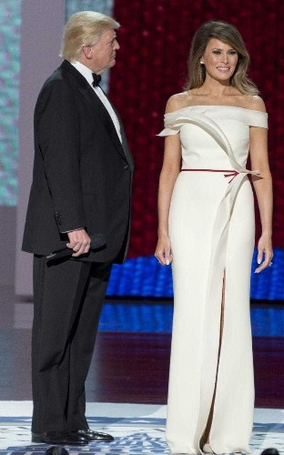 Melania Trump helped design her Hervé Pierre Inauguration gown