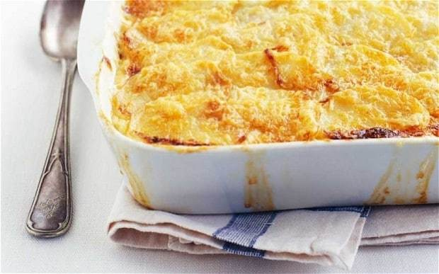 Golden potato gratin recipe