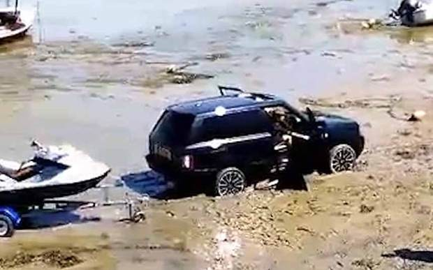 Luxury £200k 'all-terrain' Range Rover rescued by 50-year old car