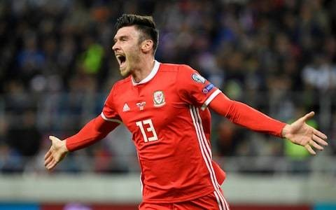 Former lifeguard Kieffer Moore says he is a 'very unusual' international footballer after first Wales goal
