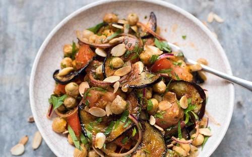 Amelia Freer's chickpea and aubergine salad