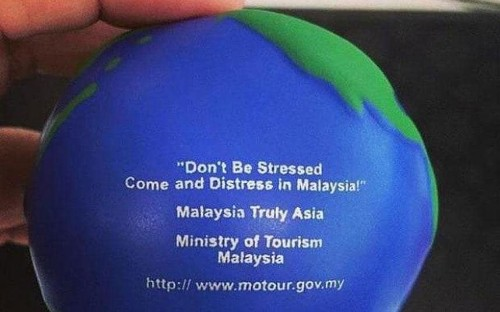 Is Malaysian tourist board responsible for this distressing gaffe?