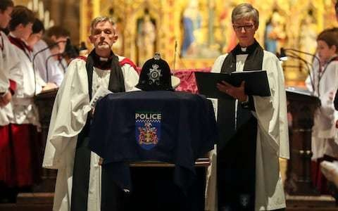Pc Andrew Harper's funeral: Priti Patel among guests as wife reads emotional eulogy