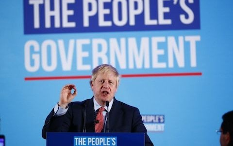 Boris Johnson signals lurch to middle ground in Tony Blair-style victory speech