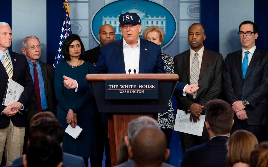 Trump defends habit of shaking hands during coronavirus pandemic