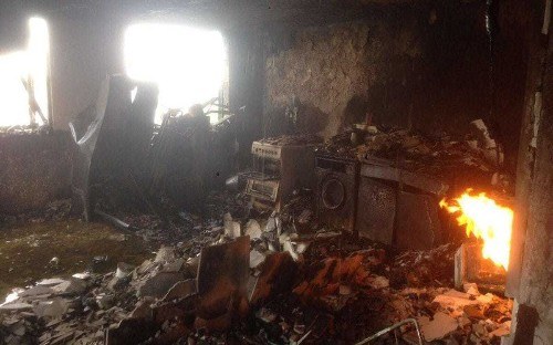 London fire: First pictures emerge from inside gutted Grenfell Tower
