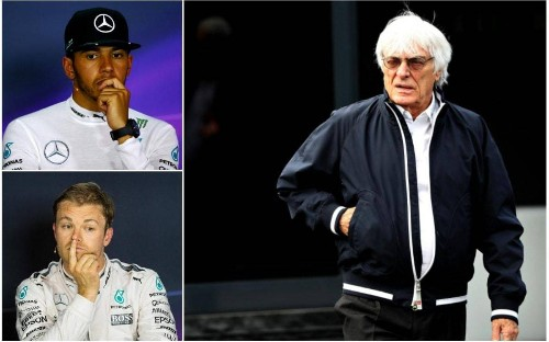 Bernie Ecclestone urges Mercedes to let Lewis Hamilton and Nico Rosberg race free of team orders at Silverstone