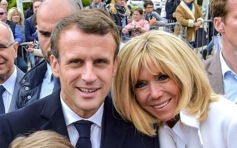 Brigitte Macron says she hates the word cougar and likens husband to 'Atlas'