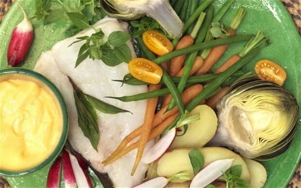 Cooking on holiday: Baked cod with aioli and seasonal vegetables