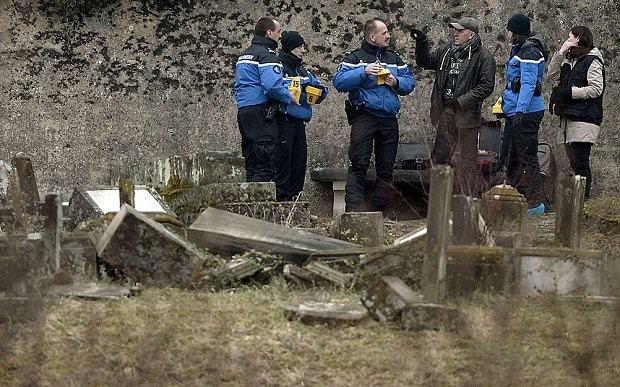 Police detain five teenagers suspected of destroying 300 Jewish graves in France