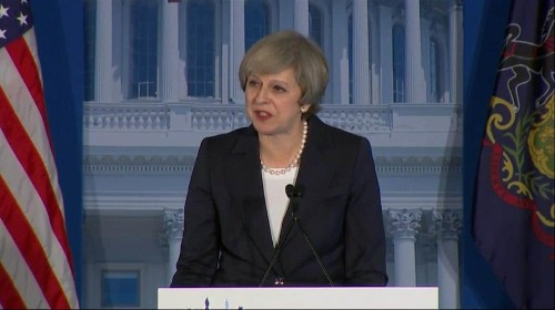 Britain and America will no longer invade foreign countries 'to make the world in their own image', Theresa May says
