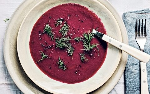 Beetroot and Bramley apple soup recipe